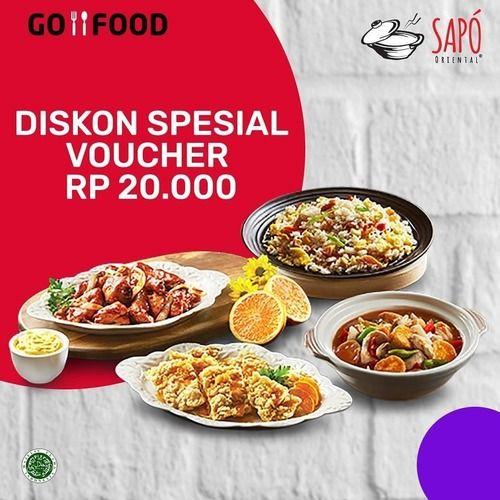 Sapo Oriental Diskon Special Voucher Rp. 20.000 (25571863) di Kota Jakarta Selatan
