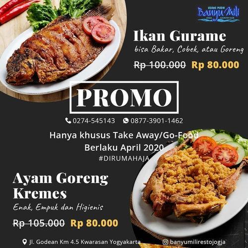 Banyumiliresto PROMO SPESIAL GURAMA DAN AYAM KREMES (25572279) di Kota Yogyakarta