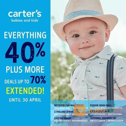 Kidz Station x Carter's Sale 40% EXTENDED APRIL 2020 (25576887) di Kota Jakarta Selatan