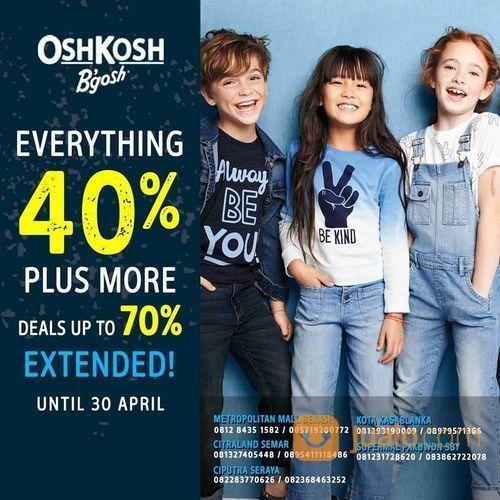 Kidz Station x Oshkosh B'gosh Promo 40% Off (25576939) di Kota Jakarta Selatan