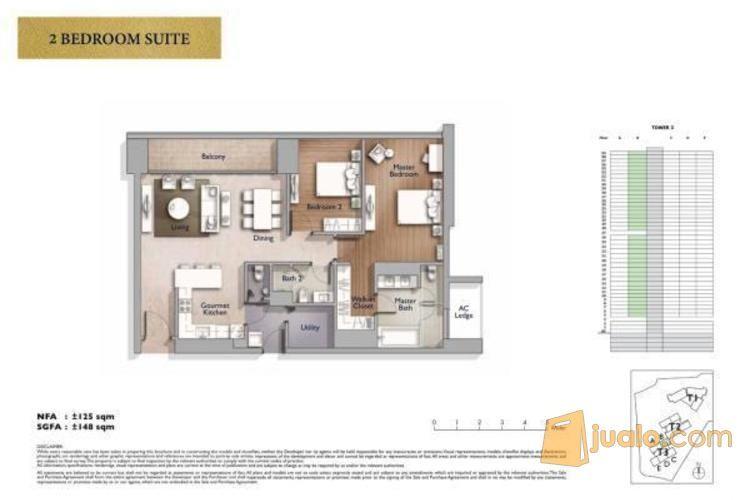 Anandamaya Apartment 2 BR Semi Furnished, Jakarta Selatan P0666 (2562037) di Kota Jakarta Selatan