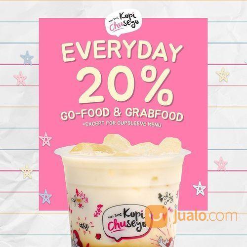 Kopi Chuseyo Promo Diskon 20% Everyday via GoFood / GrabFood (25627695) di Kota Jakarta Selatan