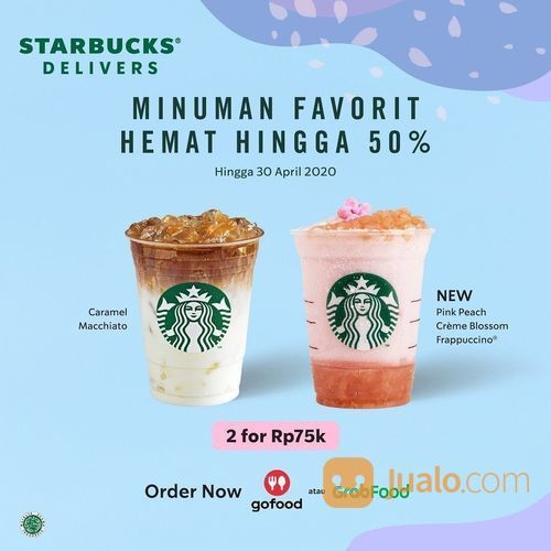 Starbucks Minuman Favorit Hemat Hingga 50% (25641931) di Kota Jakarta Selatan