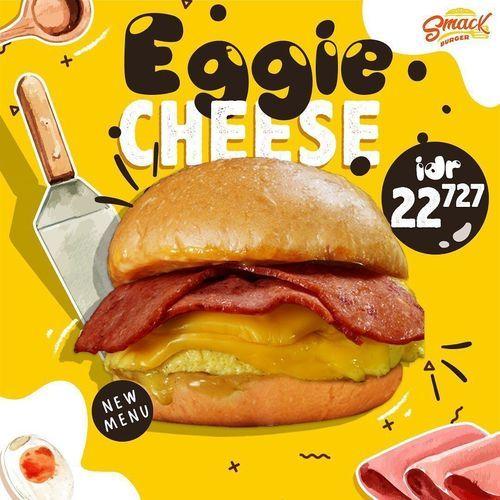 Smack Burger Eggie Cheese Promo Rp 22.727 (25645147) di Kota Jakarta Selatan