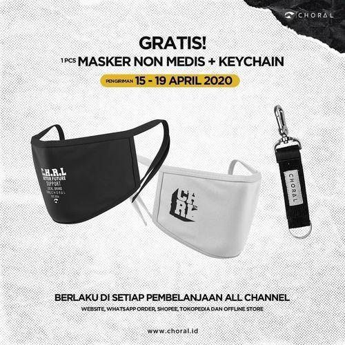 The Choral Gratis Masker Non Medis + Keychain (25662479) di Kota Jakarta Selatan