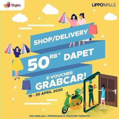 Lippomalls Shop/Delivery 50rb*m Dapat E-Voucher Grabcar (25662547) di Kota Jakarta Selatan
