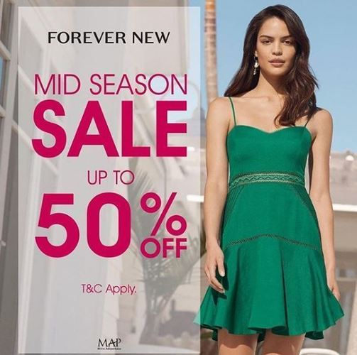 MAPEMALL Mid Season Sale DISC UP TO 50% OFF Promo FOREVER NEW (25672751) di Kota Jakarta Selatan