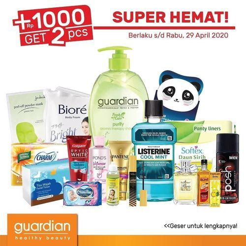 Guardian Super Hemat +1000 Get 2 Pcs (25677987) di Kota Jakarta Selatan