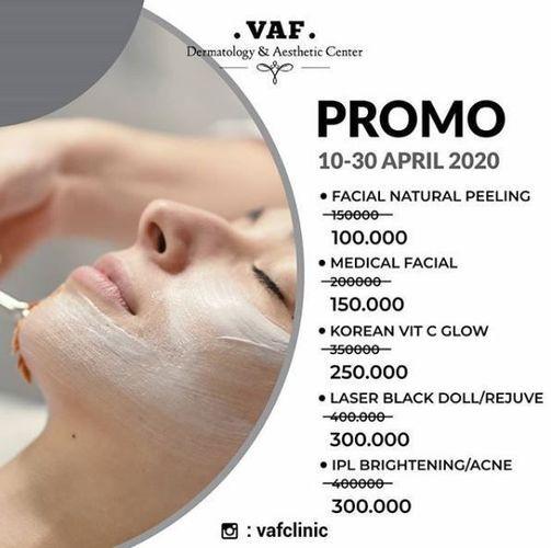 VAF Dermatology & Aesthetic Center - Promo 10-30 April 2020 (25690507) di Kota Jakarta Selatan