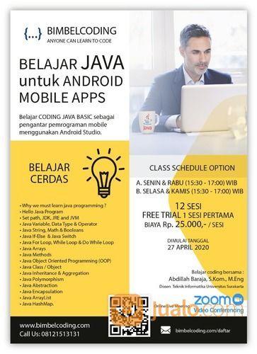 Bimbingan ONLINE Belajar BASIC JAVA CODING Pengantar Aplikasi Pemrograman Android Mobile (25710731) di Kota Surakarta