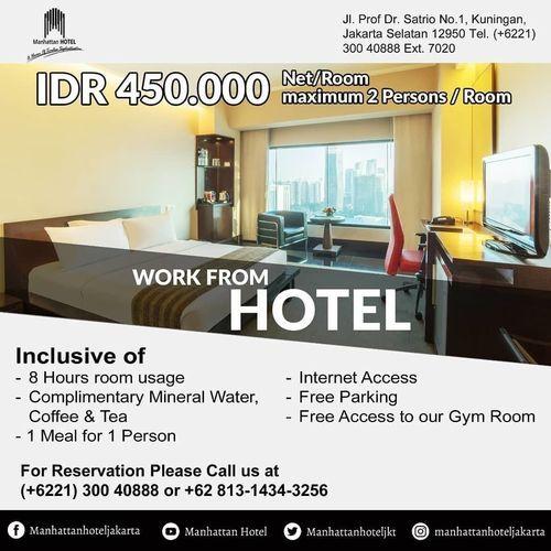 Manhattan Hotel Work From Hotel Special Offer (25719867) di Kota Jakarta Selatan