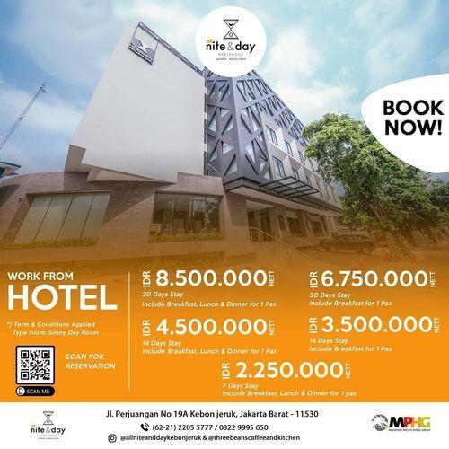 All Nite & Day Hotel Work From Hotel Package (25720087) di Kota Jakarta Barat