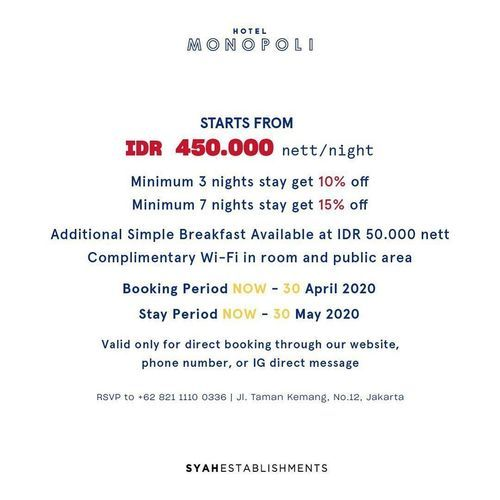 Hotel Monopoli Special Offer (25720107) di Kota Jakarta Selatan