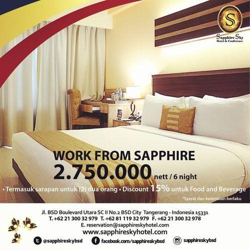 Sapphire Sky Hotel BSD Promo IDR 2.750.000 nett/6N (25721055) di Kota Jakarta Selatan