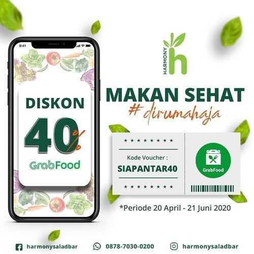Harmony Juie Salad Bar Kode Promo GrabFood - Diskon 40% (25721199) di Kota Bogor