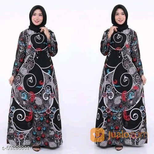 Baju Gamis Wanita Gamis Batik Wanita Muslim Syar I Baju Muslim Silver Black Jakarta Pusat Jualo