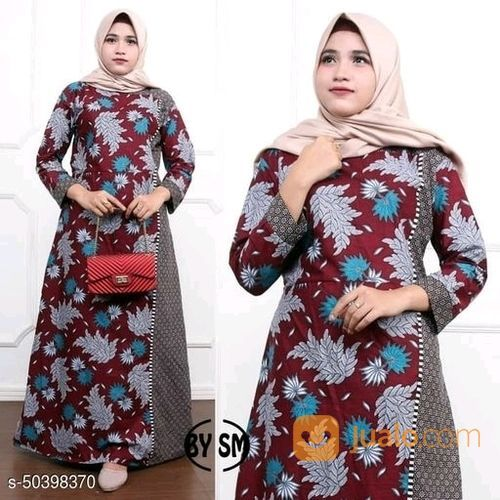 Baju Gamis Wanita Gamis Batik Wanita Muslim Syar I Baju Muslim Maroon Maroon Jakarta Pusat Jualo
