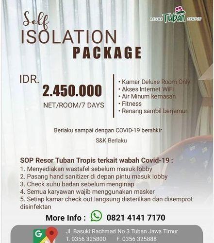 Resor Tuban Tropis - Self Isolation Package (25723227) di Kab. Tuban