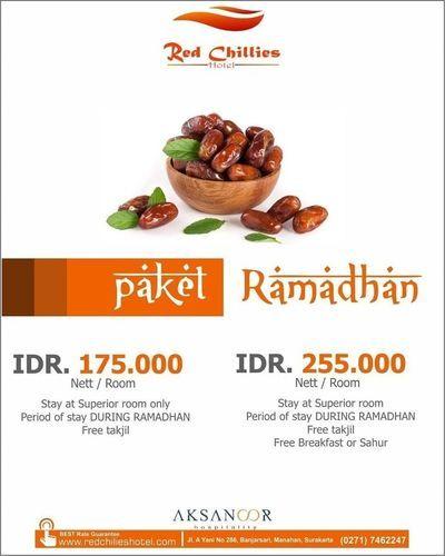 Red Chilies Hotel Promo Paket Ramadhan Mulai dr IDR 175.000 nett/room (25723295) di Kota Pekanbaru