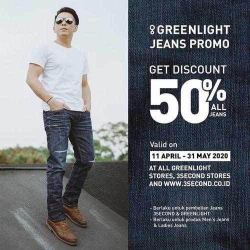 GREENLIGHT Jeans Promo Get Discount 50% (25735475) di Kota Jakarta Selatan