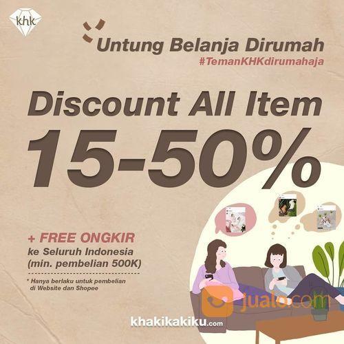 KHAKIKAKIKU DISKON ALL ITEM 15-50% + FREE ONGKIR (25756159) di Kota Jakarta Selatan