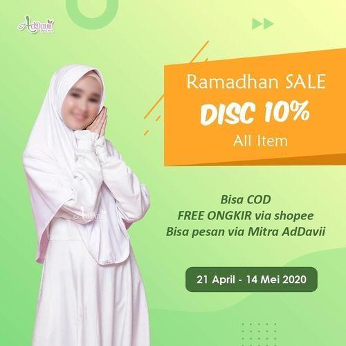 RAMADHAN SALE ADDAVII PROMO OUTFIT LEBARAN + FREE ONGKIR (25756163) di Kota Jakarta Selatan