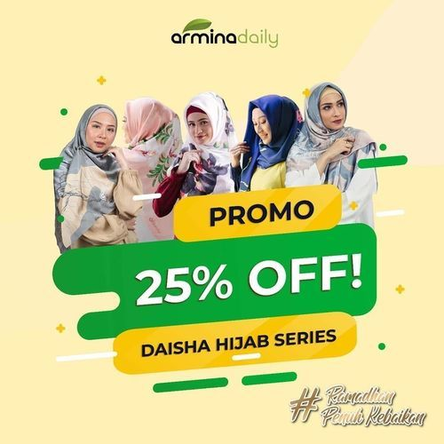 Armina Daily Hijab Promo Ramadhan Sale 25% Off (25756719) di Kota Jakarta Selatan
