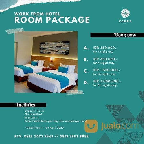 The Cakra Hotel Work From Hotel Room Package (25757571) di Kota Denpasar