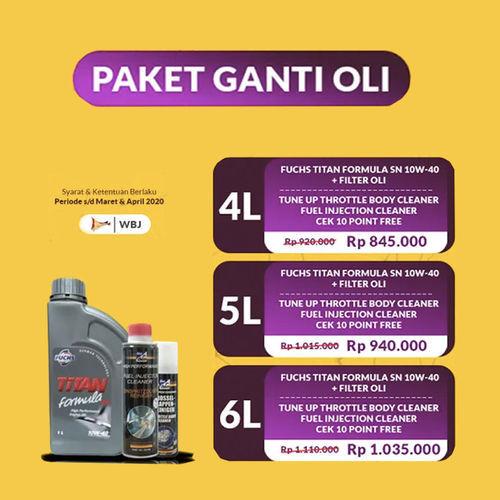 Kudamas Promo Oli Paket Ganti Oli + Tune Up (25758775) di Kota Jakarta Selatan