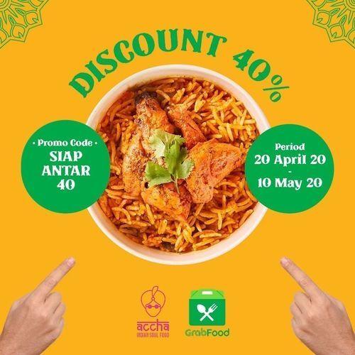 ACCHA Discount 40% Grabfood (25768639) di Kota Jakarta Selatan