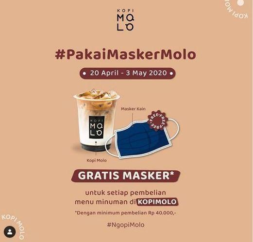 KOPI MOLO - GRATIS MASKER DENGAN MINIMUM PEMBELIAN Rp 40.000,- (25771603) di Kota Jakarta Selatan