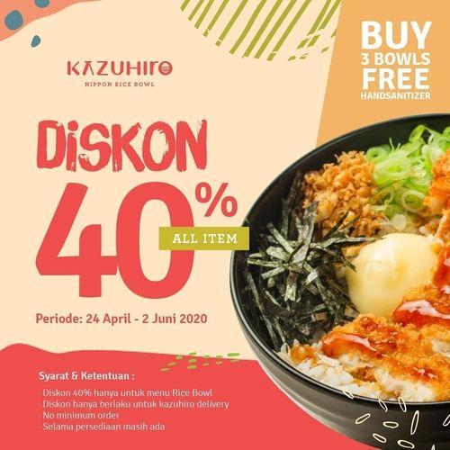 Kazuhiro Diskon 40% All Item (25802091) di Kota Jakarta Utara