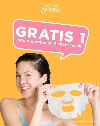 St. Ives Buy 2 Free 1 Sheet Mask only at Watsons ID! (25802755) di Kota Jakarta Selatan