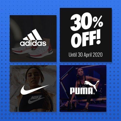 Planet Sports SALE 30% Off Adidas, Puma, Nike (25802807) di Kota Jakarta Selatan