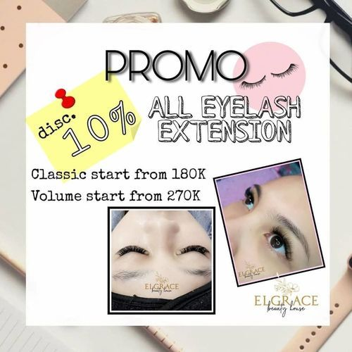 Elgrace Beauty Promo Disc. 10% ALL EYELASH EXTENSION (25803227) di Kota Semarang