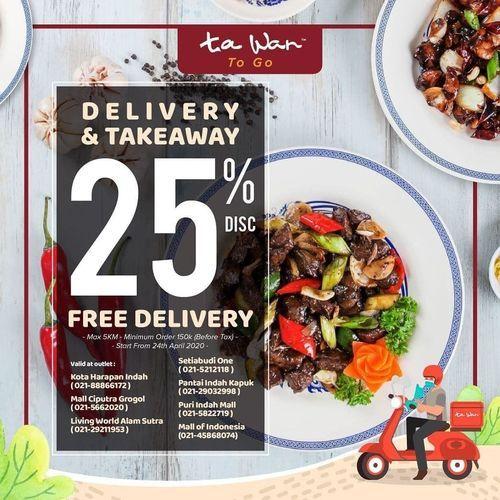 Ta Wan Restaurant Diskon 25% + FREE DELIVERY (25803495) di Kota Jakarta Selatan
