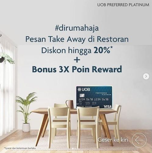 UOB - diskon 20% & bonus 3x reward (25803523) di Kota Jakarta Selatan