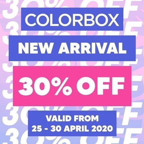 Colorbox New Arrival 30% Off (25811411) di Kota Jakarta Selatan