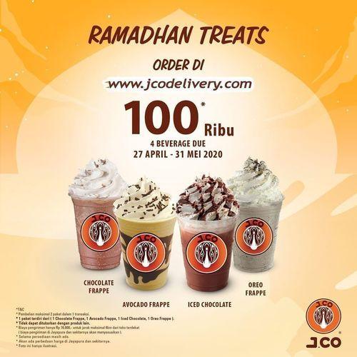 J.CO RAMADHAN TREATS 4 MINUMAN BEST SELLER J.CO HANYA RP 100.000 (25813127) di Kota Jakarta Selatan