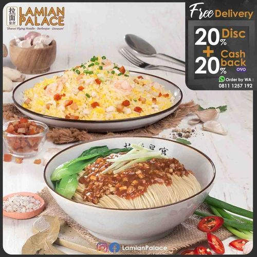 Lamian Palace Free Delivery Diskon 20% dan Casback 20% by OVO (25821099) di Kota Jakarta Selatan