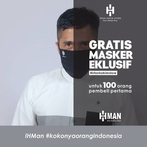 Irfan Hakim Store Dapatkan GRATIS 1 Masker Eksklusif setiap pembelian koleksi IHMan (25836923) di Kota Jakarta Selatan