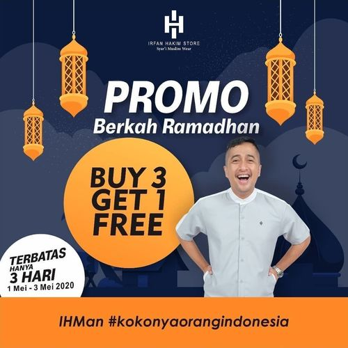 IRFAN HAKIM STORE PROMO BERKAH RAMADHAN (BUY 3 GET 1 FREE) (25837559) di Kota Jakarta Selatan