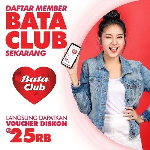BATA CLUB DAFTAR MEMBER DAPATKAN voucher diskon 25rb (25837627) di Kota Jakarta Selatan