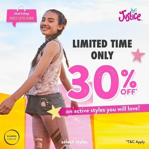 Justice Limited Time Only 30% Off (25861443) di Kota Jakarta Selatan