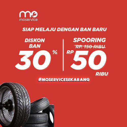 Momobil.id Diskon Ban 30% + Spooring Rp. 50 Ribu (25861467) di Kota Jakarta Selatan