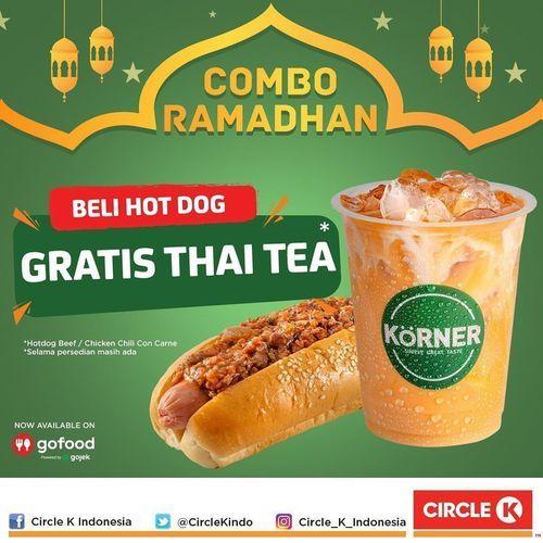 Circle K Promo Combo Ramadhan - Rp 20.000 for 2 Minuman, Beli HotDog GRATIS THAI TEA (25879771) di Kota Jakarta Selatan