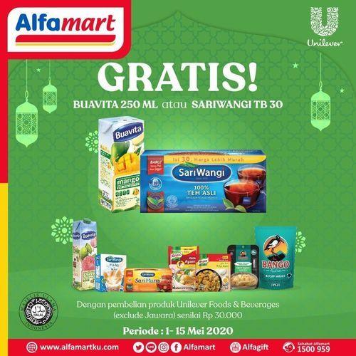 ALFAMART GRATIS BUAVITA / SARIWANGI DENGAN PEMBELIAN PRODUK UNILEVER Foods & Beverage (25891603) di Kota Jakarta Selatan