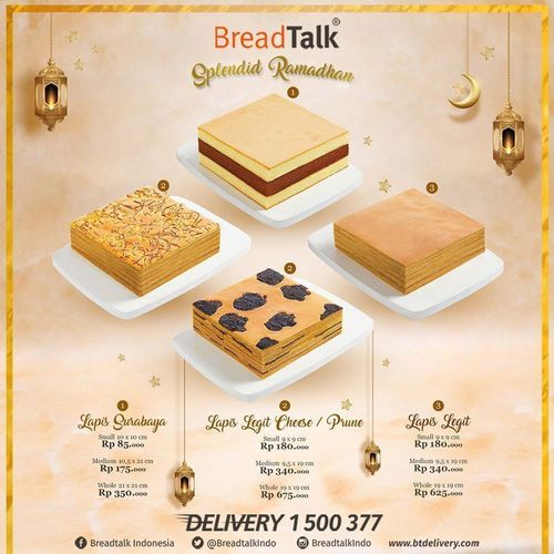 BreadTalk Splendid Ramadhan Promo Paket Cake (25892667) di Kota Jakarta Selatan