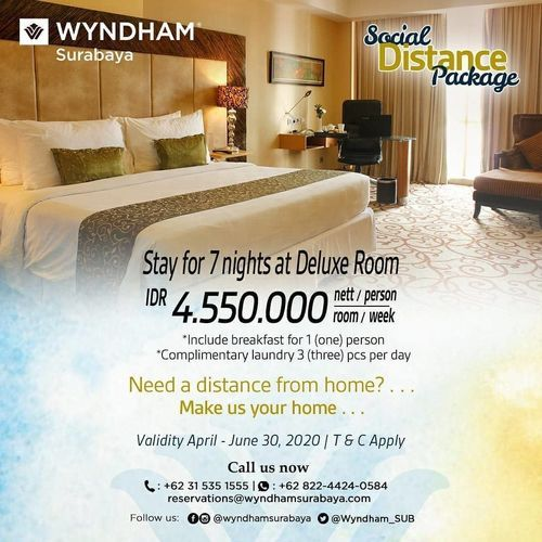 Wyndham Hotel Surabaya Social Distance Package (25913327) di Kota Surabaya