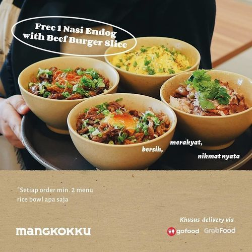 Mangkok Ku Promo Buy 2 Get 1 nasi endog beef burger slice (25920463) di Kota Jakarta Selatan
